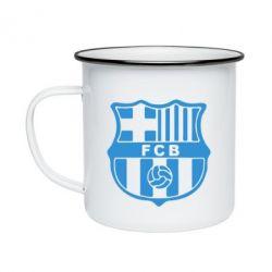 Кружка эмалированная FC Barcelona