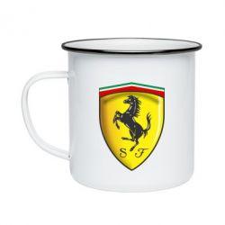 Кружка эмалированная Ferrari 3D Logo