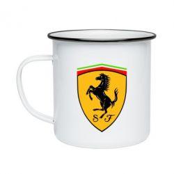 Кружка эмалированная Ferrari