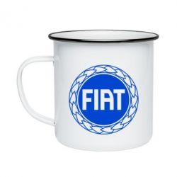 Кружка емальована Fiat logo