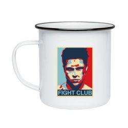 Кружка емальована Fight Club Tyler Durden