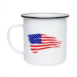 Кружка емальована Прапор США
