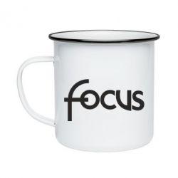 Кружка емальована Focus