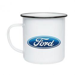 Кружка эмалированная Ford 3D Logo