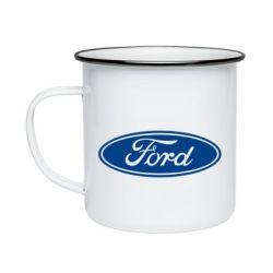 Кружка емальована Ford Logo