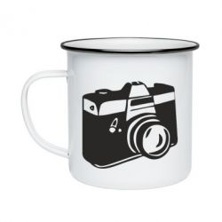 Кружка емальована Фотоапарат