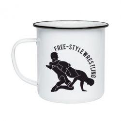 Кружка эмалированная Free-style wrestling