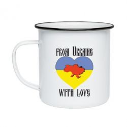 Кружка эмалированная From Ukraine with Love - FatLine