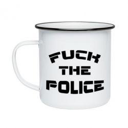 Кружка емальована Fuck The Police До біса поліцію