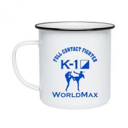 Кружка эмалированная Full contact fighter K-1 Worldmax - FatLine