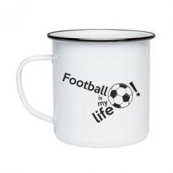 Кружка емальована Футбол - моє життя!