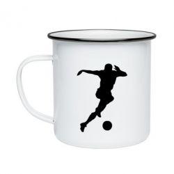 Кружка эмалированная Футбол