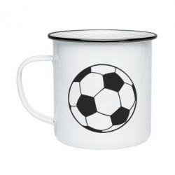 Кружка емальована Футбольний м'яч