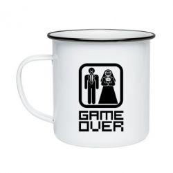Кружка эмалированная Game Over