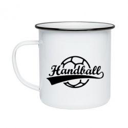 Кружка емальована Гандбол Лого