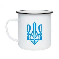 Кружка эмалированная Гарний герб України - FatLine