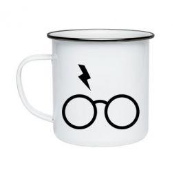 Кружка емальована Гаррі Поттер лого