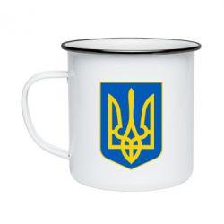 Кружка эмалированная Герб неньки-України