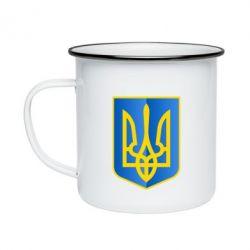 Кружка эмалированная Герб України 3D