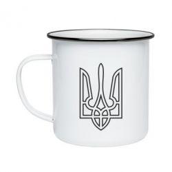Кружка емальована Герб України (полий)