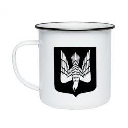 Кружка емальована Герб України сокіл