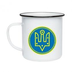 Кружка емальована Герб України у колі