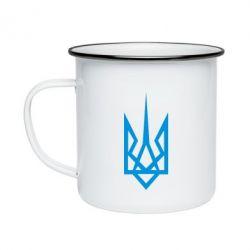 Кружка эмалированная Герб України загострений - FatLine