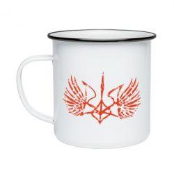 Кружка эмалированная Герб з крилами