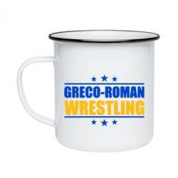 Кружка емальована Greco-Roman Wrestling