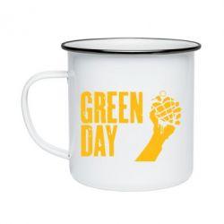 Кружка эмалированная Green Day American Idiot