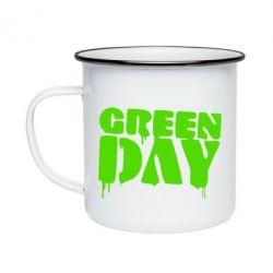 Кружка эмалированная Green Day