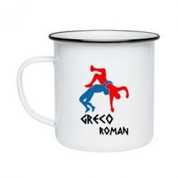 Кружка емальована Греко-римська боротьба