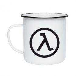 Кружка емальована Half Life Logo
