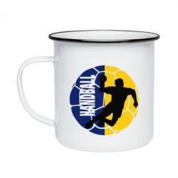Кружка эмалированная Handball Logo