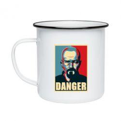 Кружка емальована Heisenberg Danger