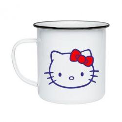Кружка эмалированная Hello Kitty logo