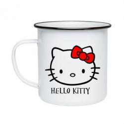 Кружка емальована Hello Kitty