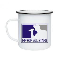 Кружка емальована Hip-hop all stars