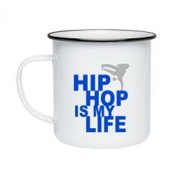 Кружка емальована Hip-hop is my life
