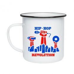 Кружка эмалированная Hip-hop revolution
