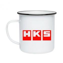 Кружка эмалированная HKS - FatLine