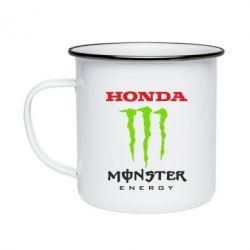 Кружка емальована Honda Monster Energy