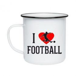 Кружка емальована I love football