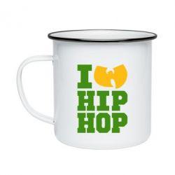 Кружка эмалированная I love Hip-hop Wu-Tang