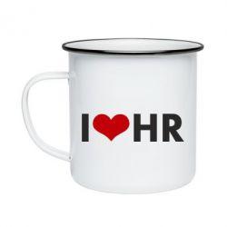 Кружка эмалированная I love HR