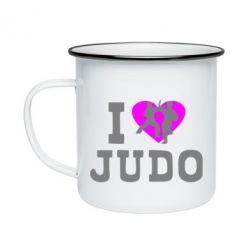 Кружка эмалированная I love Judo