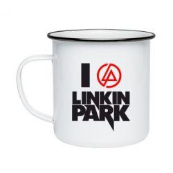 Кружка эмалированная I love Linkin Park