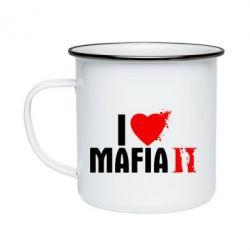 Кружка емальована I love Mafia 2