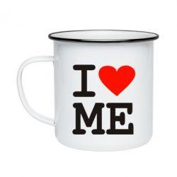 Кружка емальована I love ME