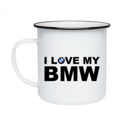 Кружка емальована I love my BMW